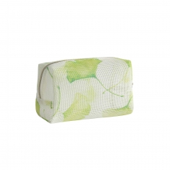 55059-2 leaves  Printing PVC Mesh Bag