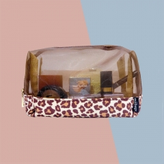 55061-LPD Leopard Print Cosmetic Bag